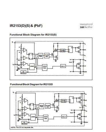 供应IR 国际整流IR2153DPBF集成电路 IC IR2153DPBF详细参数IR2153DPBF电路图
