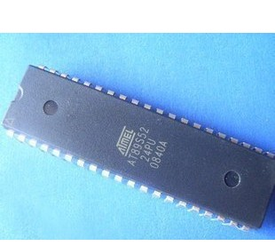 直插全新原装atmelat89s52-24pu8位闪存微控制器dip-40