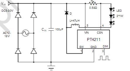 51电子网 企业新闻    pt4211包括输出开关和一个高端输出电流检测