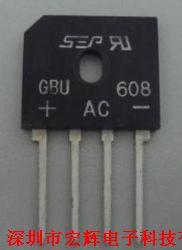 GBU608  桥式整流器   原厂一级分销产品图片